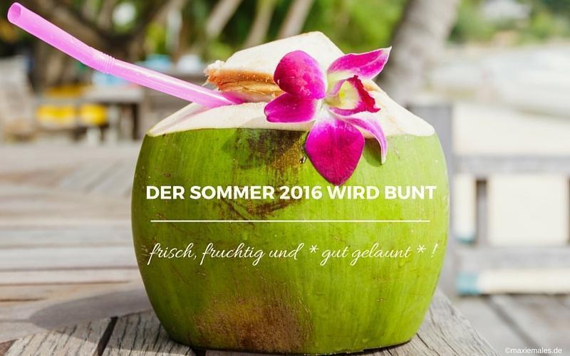 Meine Sommer-Rezepte: Der Sommer 2016 wird bunt!